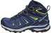 Salomon X Ultra 3 GTX Mid Hiking Shoes Women Crown Blue/Evening Blue/Sunny Lime